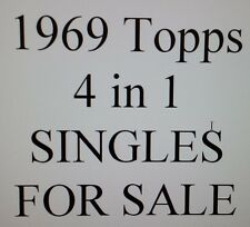 1969 Topps Four-in-one STARS (4 in 1) singles for sale $1.99 each SEE LIST
