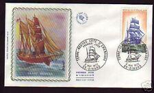 1717- FDC ENVELOPPE 1er JOUR SUR SOIE   TERRE  NEUVAS