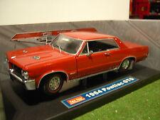 PONTIAC GTO Coupé de 1964 street rouge au 1/18 SUNSTAR voitire miniature 1820