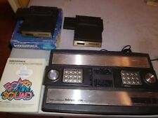 Vintage Mattel Intellivision Video Game Console w/ 2 intellivoice & bomb squad