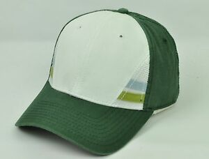 Casual Outdoors Green White Mens Adult Sun Buckle Curved Bill Hat Cap
