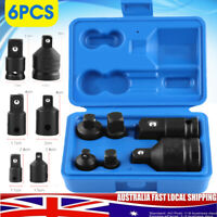 6X Impact Socket Adaptor & Reducer Adapter 1/4 1/2 3/8 3/4 Ratchet Breaker Kit