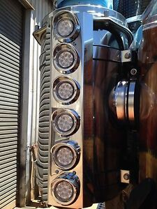 Air Cleaner Stainless - C/A Grommet Lights suits Kenworth, Mack and Western Star