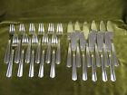 11 couverts poisson metal argente art déco (fish cutlery set 22pces) Argental