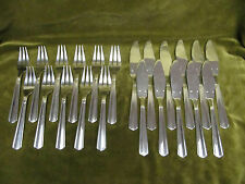11 couverts poisson metal argente art déco (fish cutlery set 22pces) Argental