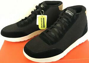 Skechers On The Go 55427 Goga Mat Black High Top Chukka Comfort Shoes Men's 8