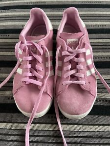 Girls Adidas Size 13 Campus Trainers Pink