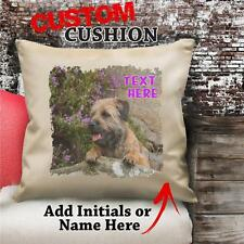 Personalised BORDER TERRIER Dog Puppy Cushion Cover Gift Birthday Love Her NC037