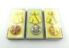 #e4605 3 x Blücher Medaille für Tapferkeit Stufe Bronze, Silber & Gold von 1984