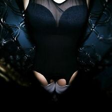 S-2XL Women Mesh See ThroughTank Vest Dress With 6 Wide Straps Garter Belt