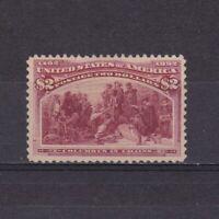 USA 1893, Sc# 242, CV $3,800, Columbian Exposition Issue, Regummed