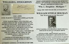 New listing Civil War Maj General Wia Colonel 11th Mi Infantry Congressman Autograph Signed!