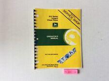 John Deere 610 Series Integral Chisel Plows Operators Manual Omn200097