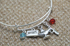 Aladdin inspired bracelet Wish Genie's lamp sword charm bangle bracelet