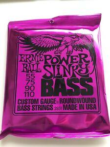Ernie Ball Power Slinky Bass Guitar Strings 2831 55-110