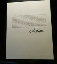 TOM KITE AUTOGRAPH LETTER AND LETTER OF AUTHENTICITY!   c597TDD