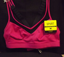 WACOAL WILD ASTER.BLACK MEDIUM IMPACT WIRE FREE SPORTS BRA SIZE 38A/B  NEW TAGS