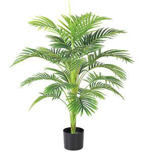 "44"" Artificial Palm Silk Tree Plant  with Basket Bonsai Home Floral Decor"