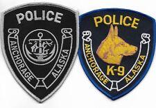 SET Nr.10:  2 Stück USA Police Patch ALASKA Anchorage SWAT K-9 Polizei Abzeichen