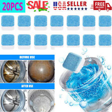 20PCS Washing Machine Cleaning Tablets Cleaner Washer Deep Solid Effervescent US