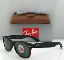 Ray Ban New Wayfarer Polarized Rb 2132 622/58 Matte Black / Classic Green 55mm