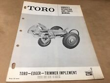 toro edger trimmer  rotary implement parts list,IPL ,antique toro tractor #