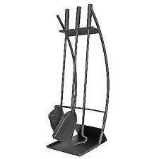 Manor 65cm Traverse Fireside Companion Set in Black - 2159