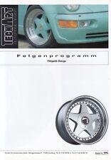 PORSCHE TECHART Fittipaldi Felgen Räder 911 993 964 Turbo G Prospekt 1994 /42