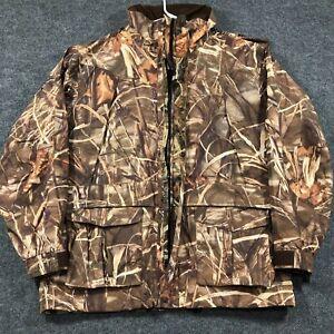 Cabela's Gore-Tex Mens Large Reg Advantage Max 4 Weatherproof Parka Jacket Hood