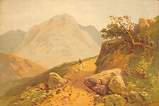 EAGLE CRAG LAKE DISTRICT REPRODUCTION PEINTURE PAINTING THOMAS ROWBOTHAM