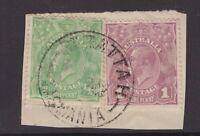 Tasmania PARATTAH 1923? postmark on KGV piece