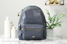 Coach F29004 Pebble Leather Midnight Large Charlie Backpack BookBag Bag