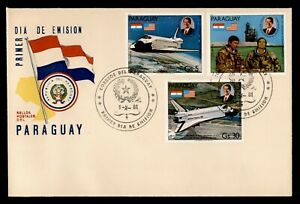 DR WHO 1981 PARAGUAY FDC SPACE REAGAN INAUGURATION  C239020