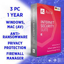 Avira Internet Security Suite 3 Geräte 1 Jahr 2020 VOLLVERSION / Win 10 Mac