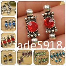 20pcs tibetan silver charm rhinestone spacer beads Connectors fit bracelet 21mm