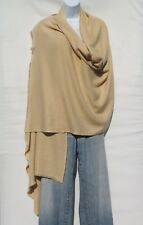 100% Cashmere Himalayan Shawl/Scarf  Lightweight 1Ply 2Pad Handloomed Camel