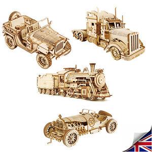 Robotime Train Model Building Kits 3D Wooden Puzzle 308pcs Toy for Children Teen