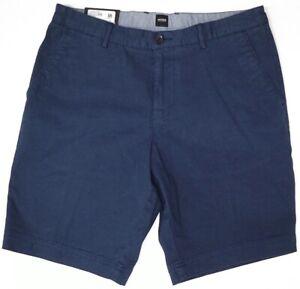 HUGO BOSS Navy Blue Shorts Mens Slice-Short Regular Fit Stretch NWT NEW $98
