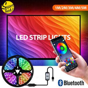 NEW RGB LED Strip Lights IP65 Waterproof 5050 5M 300 LEDs 12V USB Bluetooth OZ