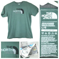 euc The North Face Mens Large Classic Fit Green Cotton Blend S/S Graphic T-Shirt