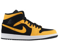 c Nike Air Jordan Retro 1 Mid Reverse New Love Black Yellow 554724-071 all size