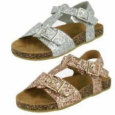 Girls Spot On Glittery Sandals