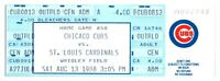 1988 Chicago Cubs St. Louis Cardinals 8/13 Ticket Ryne Sandberg HR *ST4A