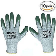 Pakel EN 388 Level 5 Non Slip Cut Resistant Gloves Size 9 (Large) 10 Pairs