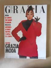 GRAZIA Rivista di moda n°2485 1988 Monica Bellucci [VL18] Rarissimo!