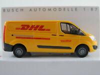 "Busch 52411 Ford Transit Custom Kasten (2012) ""DHL"" in gelb 1:87/H0 NEU/OVP"