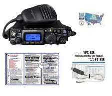 Yaesu FT-818 HF/VHF/UHF Radio w/ RT Systems Prog. Kit & Nifty! Mini-Manual