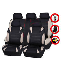 Universal Car Seat Covers Neoprene WATERPROOF Full Seat Airbag Fit Black Beige