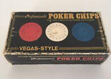Set of 100 Vintage Vegas Style Professional Poker Chips 1976 Custom Games