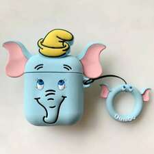 3D Cartoon Dumbo Elephant Headset Airpods Charge Case Cover For Airpod + Ring